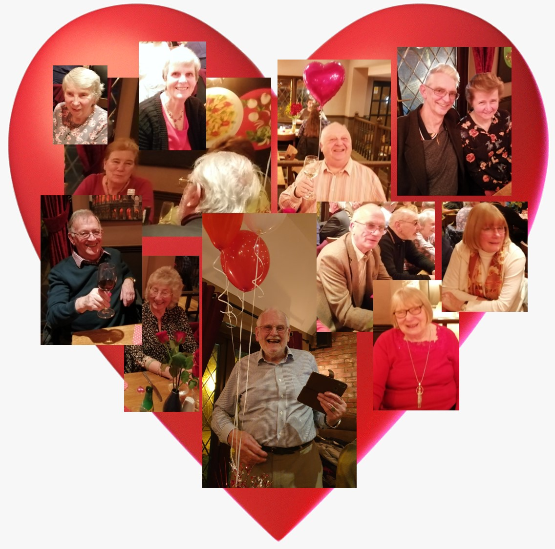 An image montage of a few who enjoyed our 2020 Valentine's dinner