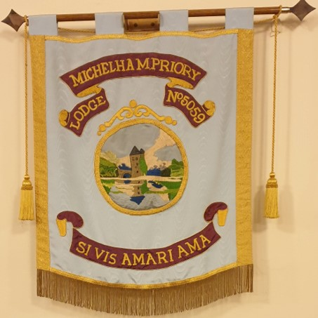 The Lodge banner adorns almost every English Constitution Lodge